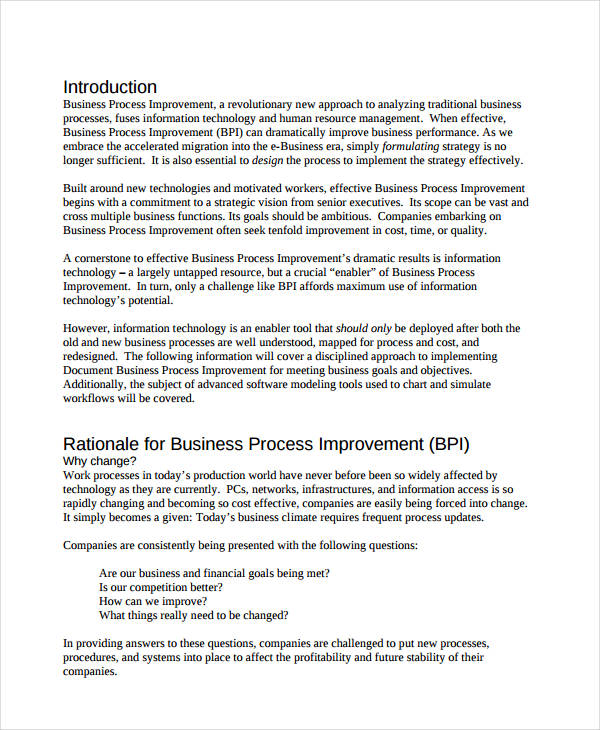 Business process documentation definition