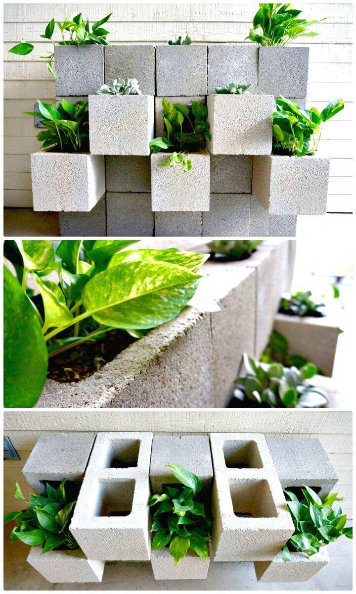 cinder block planter instructions