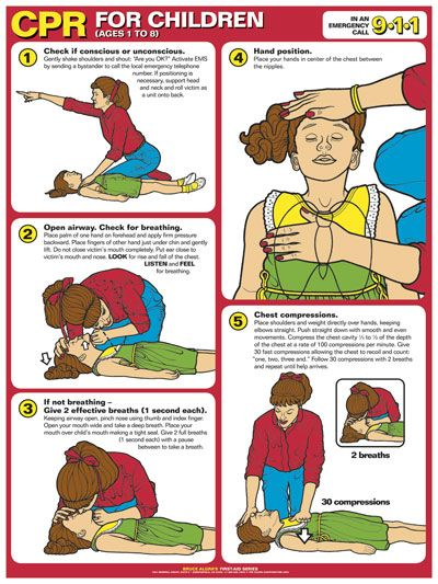 illustrated infant cpr instructions