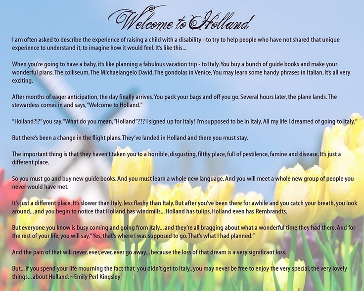 Welcome to holland poem pdf